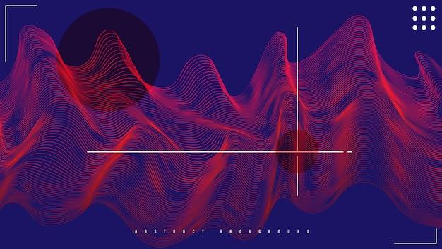 Abstrait vague ligne futuriste fond dégradé géométrique