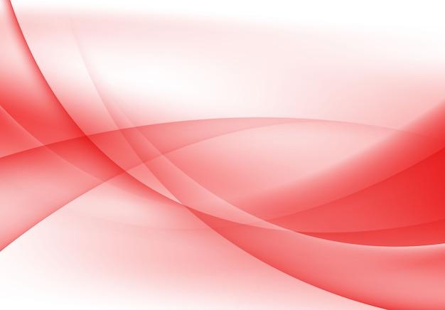 Abstrait vague moderne rouge et blanc