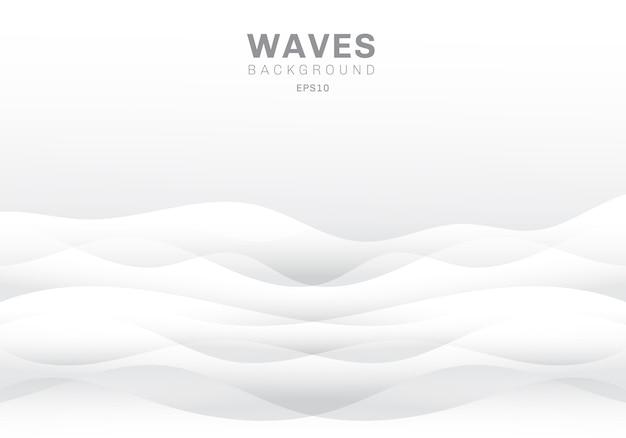 Abstrait des vagues blanches