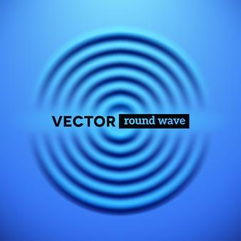 Abstrait avec des vagues d'ondulation bleues