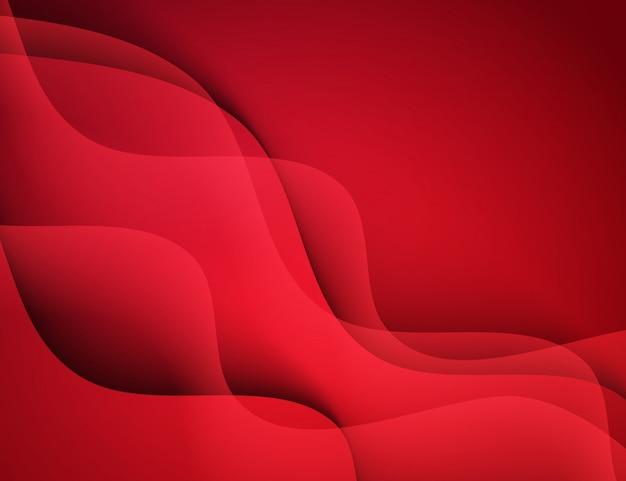 Abstrait des vagues rouges.