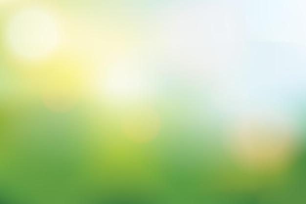 Abstrait de vecteur de couleur vert et bleu doux pour la bannière de l'affiche ciel d'été ou de printemps