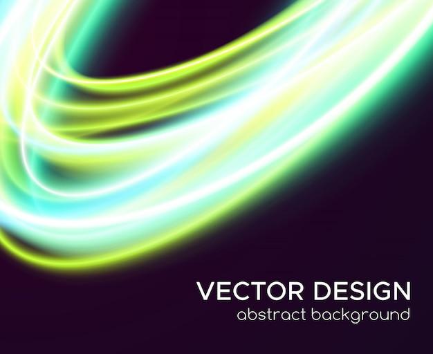 Abstrait de vecteur avec des courbes brillantes