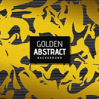 Abstrait de vecteur doré
