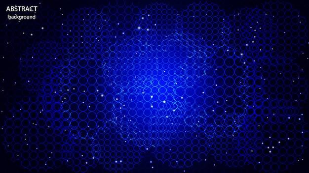 Abstrait de vecteur fait de cercles de couleur néon. eps 10