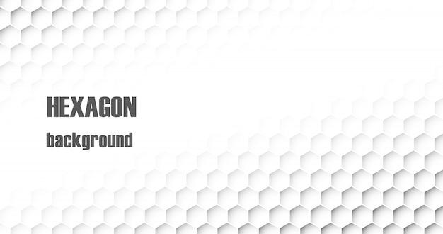 Abstrait de vecteur hexagone.