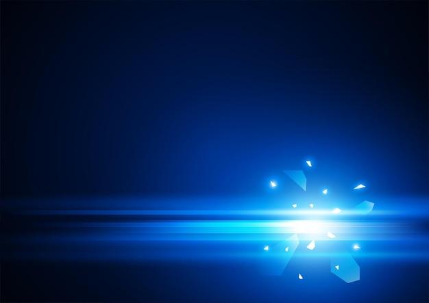 Abstrait vecteur ligne bleue au format eps10
