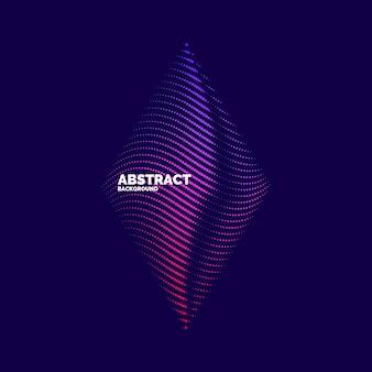 Abstrait de vecteur avec des ondes dynamiques, des lignes et des particules. illustration adaptée à la conception