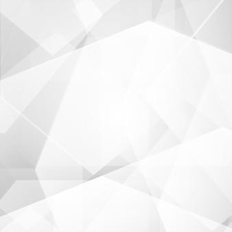 Abstrait de vecteur de polygone de couleur blanc et gris