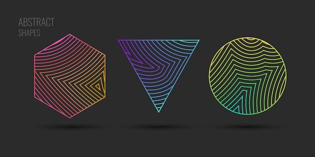 Abstrait de vecteur avec des vagues dynamiques. illustration adaptée à la conception