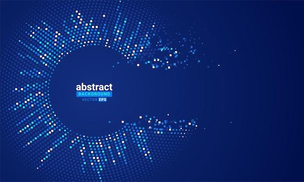 Abstrait de vecteur avec des vagues dynamiques en pointillés de couleur