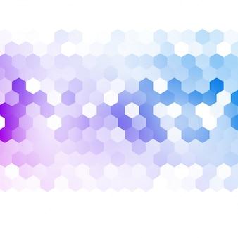 Abstrait vectoriel 3d hexagonale.