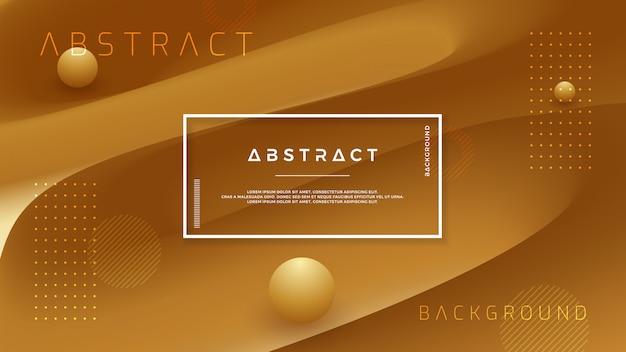 Abstrait vectoriel brun doré.