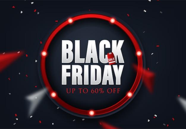 Abstrait vectoriel noir vendredi mise en page de vente