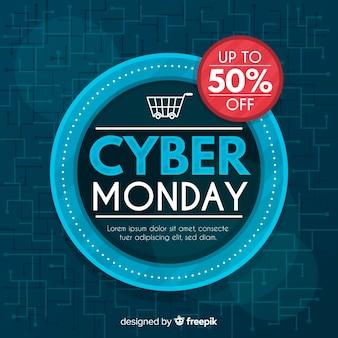 Abstrait vente de cyber lundi