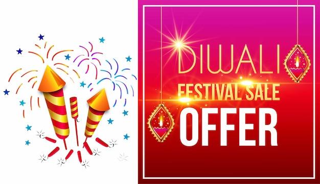 Abstrait de vente grand diwali dhamaka avec bannière de détails d'offre ou affiche de vente joyeux diwali