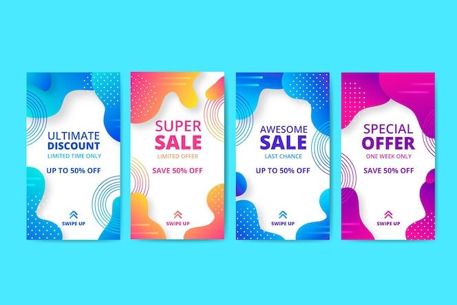 Abstrait vente pack histoire Instagram