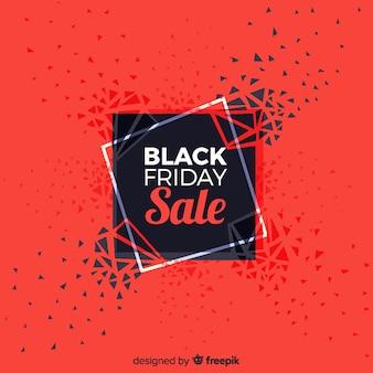 Abstrait vente de vendredi noir en noir et rouge