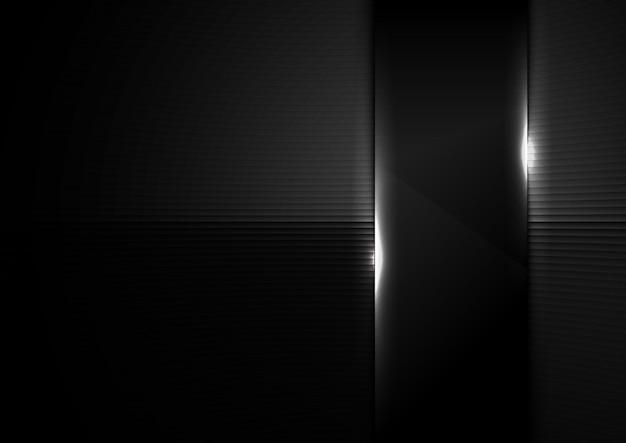 Abstrait verre noir brillant