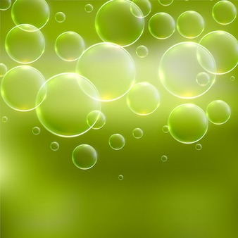 Abstrait vert avec des bulles