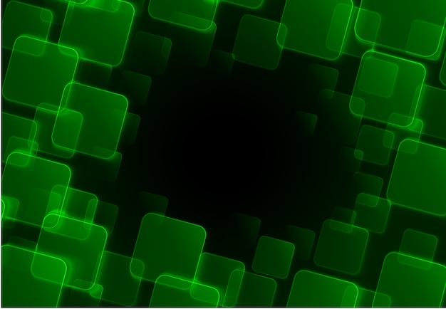 Abstrait vert carré