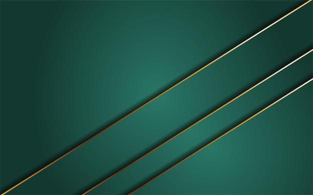 Abstrait vert foncé combiné avec la ligne or