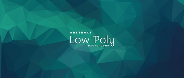 Abstrait vert, formes polygonales, concept low-poly.