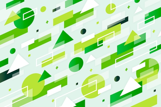Abstrait vert géométrique