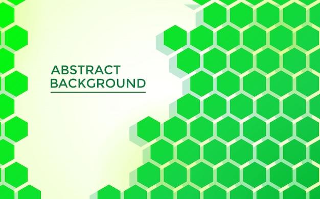 Abstrait vert hexagone, avec un style futuriste