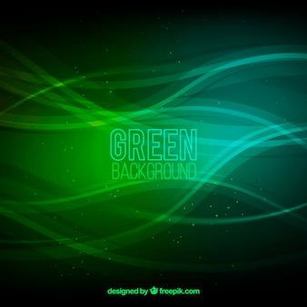 Abstrait vert ondulé