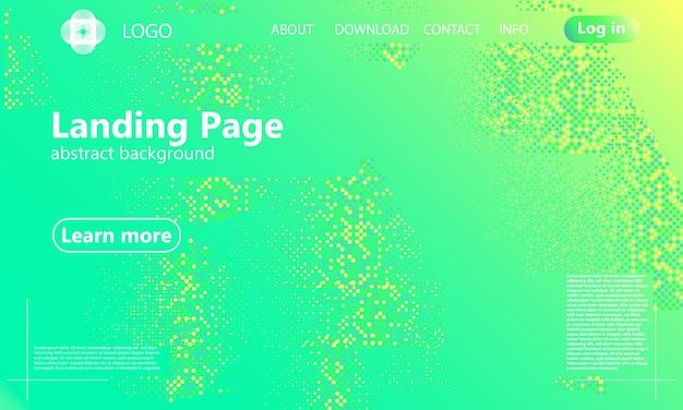Abstrait vert. page de destination de conception web. affiche dégradée à la mode.