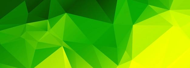 Abstrait vert polygonale