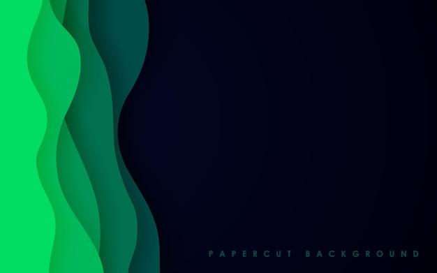 Abstrait vert avec style papercut