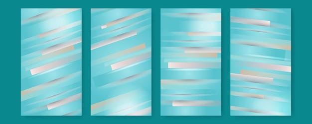 Abstrait vert tosca sertie de formes géométriques