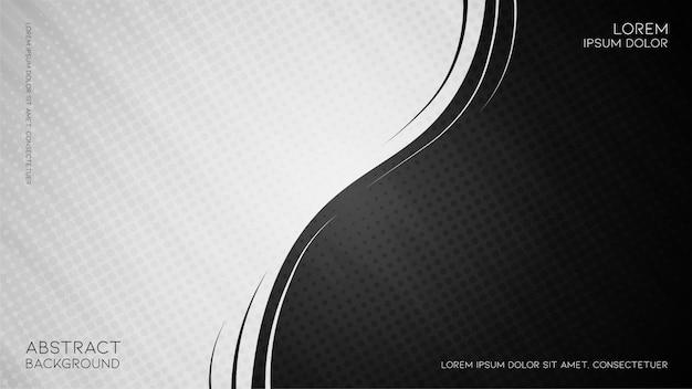 Abstrait vintage noir et blanc avec un style géométrique en demi-teintes