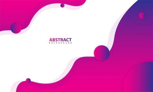 Abstrait avec violet et blanc