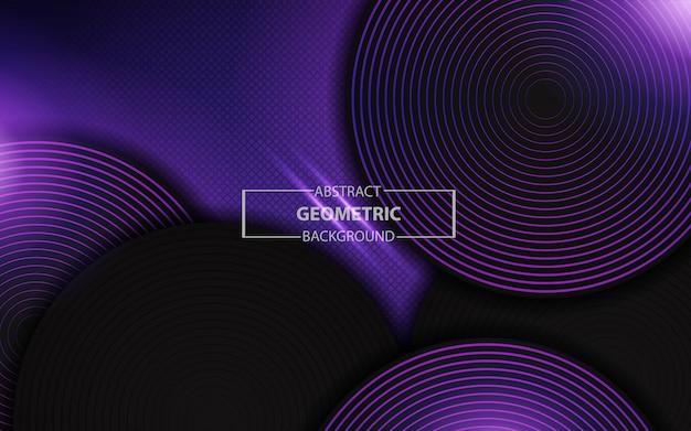 Abstrait violet clair géométrique avec des couches de cercle