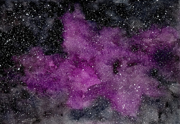Abstrait violet avec des étoiles