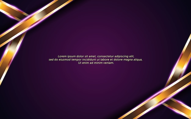 Abstrait violet foncé avec une ligne dorée
