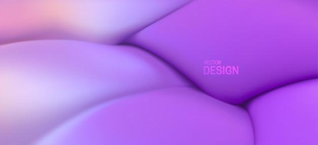 Abstrait violet avec des formes élastiques douces