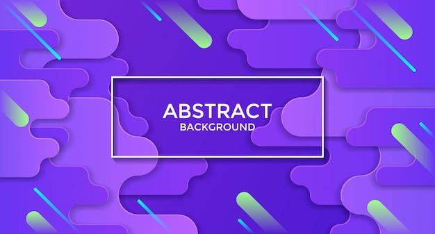 Abstrait violet horizontal avec des rayures diagonales vertes et cyan