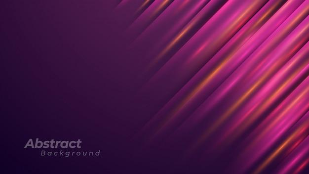 Abstrait violet avec des lignes brillantes diagonales.