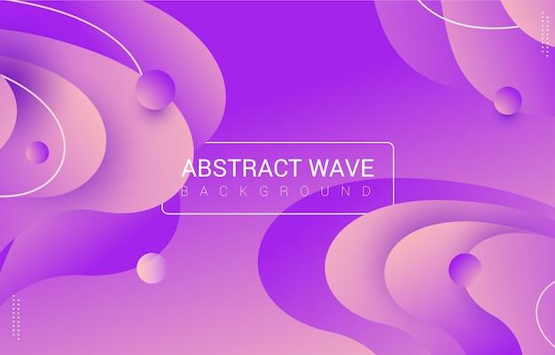 Abstrait violet lilas ondulé