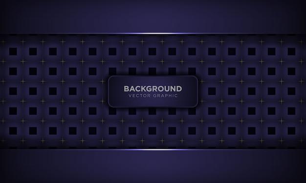 Abstrait violet de luxe avec motif géométrique carré et décoration lumineuse dorée. concept de technologie moderne.