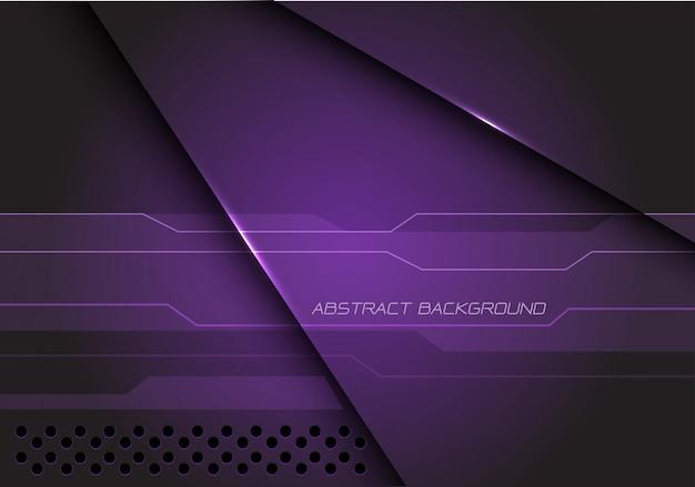 Abstrait violet métallique chevauchent cyber technologie futuriste moderne.