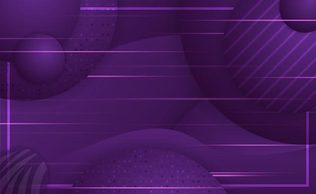 Abstrait violet moderne avec objet rond