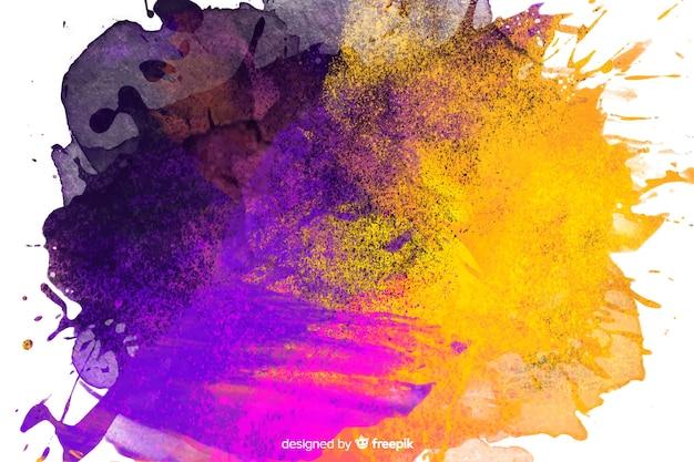 Abstrait avec violet et or