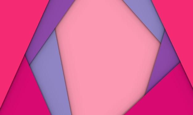 Abstrait violet et rose sur fond de style papier découpé. conception pour la bannière.