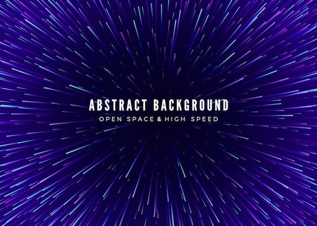 Abstrait voyage à travers le temps et l'espace. affiche néon futuriste. modèle de bannière de musique à la mode.