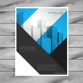Abstraite des formes géométriques de conception société dépliant brochure d'affiches